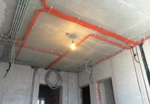 Проводка в монолитном потолке квартиры