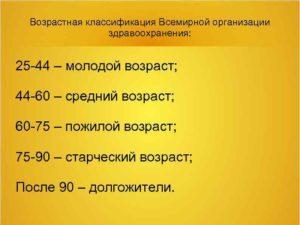 Старческий возраст со скольки лет в россии