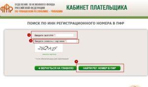Узнать свой регистрационный номер в пфр по инн