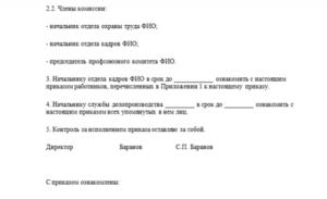 Приказ о проверке знаний по электробезопасности на 2 группу