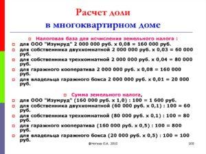 Как правильно рассчитать суммы долей при общей долевой собственности