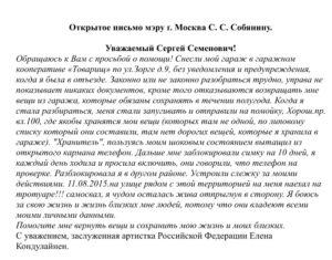 Как написать письмо меру москвы