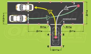 Как правильно заезжать в гараж задним ходом на автодроме