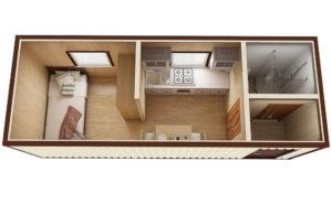 Планировка комнат вагончиком фото