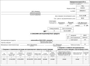 Списание автомобиля в бюджетной организации проводки