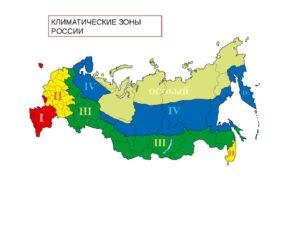 Карта россии по климатическим зонам