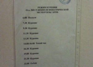 Расписание рабочего дня для поваров