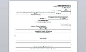 Приказ на премирование главного бухгалтера образец форма т11