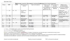 Информация о цепочке собственников включая бенефициаров образец заполнения