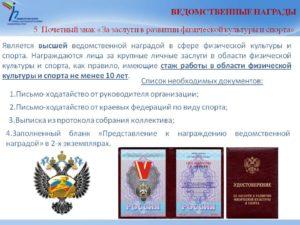 Ведомственной награды отличия от государственной