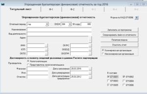 Скачать упрощенную бухгалтерскую отчетность за 2020 год кнд 0710096