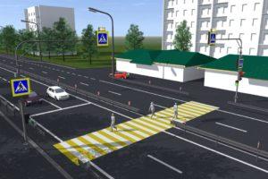 Правила проезда регулируемых пешеходных переходов вне перекрестка