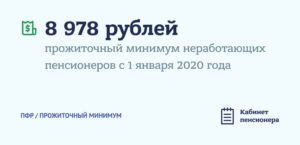 Размер прожиточного минимума для пенсионеров в 2020 году в спб