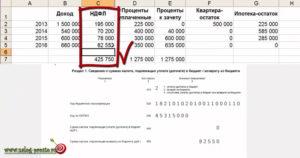 Пример декларации по процентам по ипотеке 2020