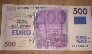 Где можно поменять купюры 500 евро