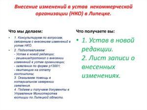 Внесение изменений в устав нко минюст пошаговая инструкция
