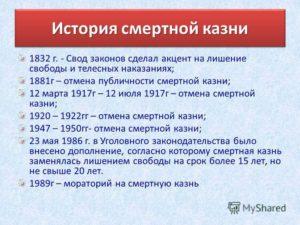 Когда была принята и отменена смертная казнь в россии