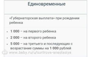 Губернаторские выплаты при рождении в ленинградской области 2020