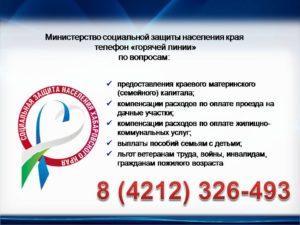 Как узнать номер телефона горячий линии соцзащиты г саратова