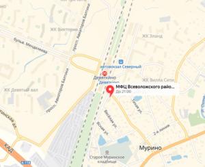 Адрес мфц которые оформляют собственность в мурино