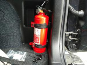 Где закрепить огнетушитель в автомобиле