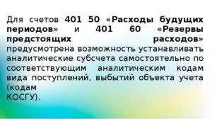 Инвентаризация счета 401 60