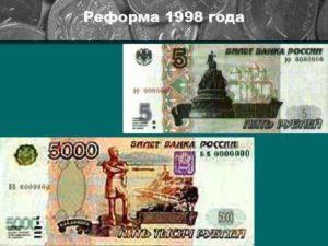 Реформа денег в россии 2020