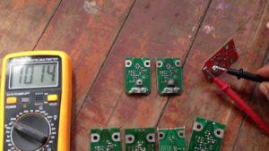 Как проверить плату с антенны мультиметром