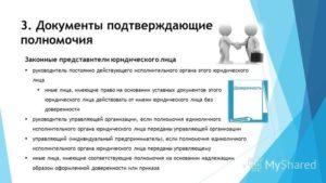 Копия документа  подтверждающего полномочия руководителя на подписание договора