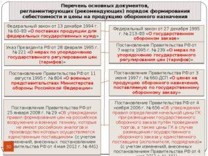 Реестр организаций гособоронзаказа