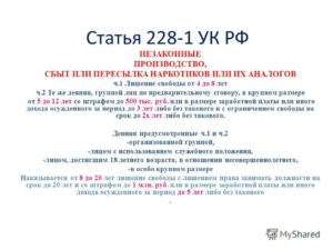 Новые поправки 2020года к статье 228 часть 4