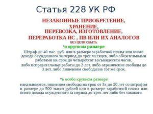 Статья 228 ук рф отзывы