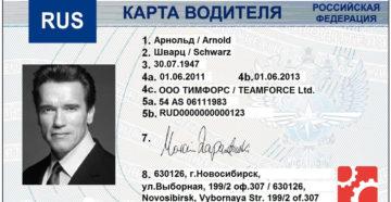 Карта водителя срок действия