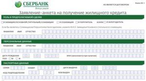 Заполнение анкеты для службы безопасности сбербанка