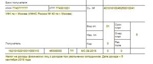 Назначение платежа ндфл при увольнении сотрудника в платежном поручении